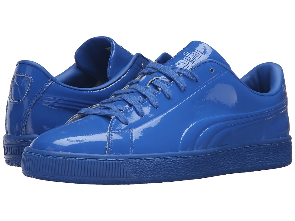 PUMA - Basket Classic Patent Emboss (Puma Royal) Men's Basketball Shoes
