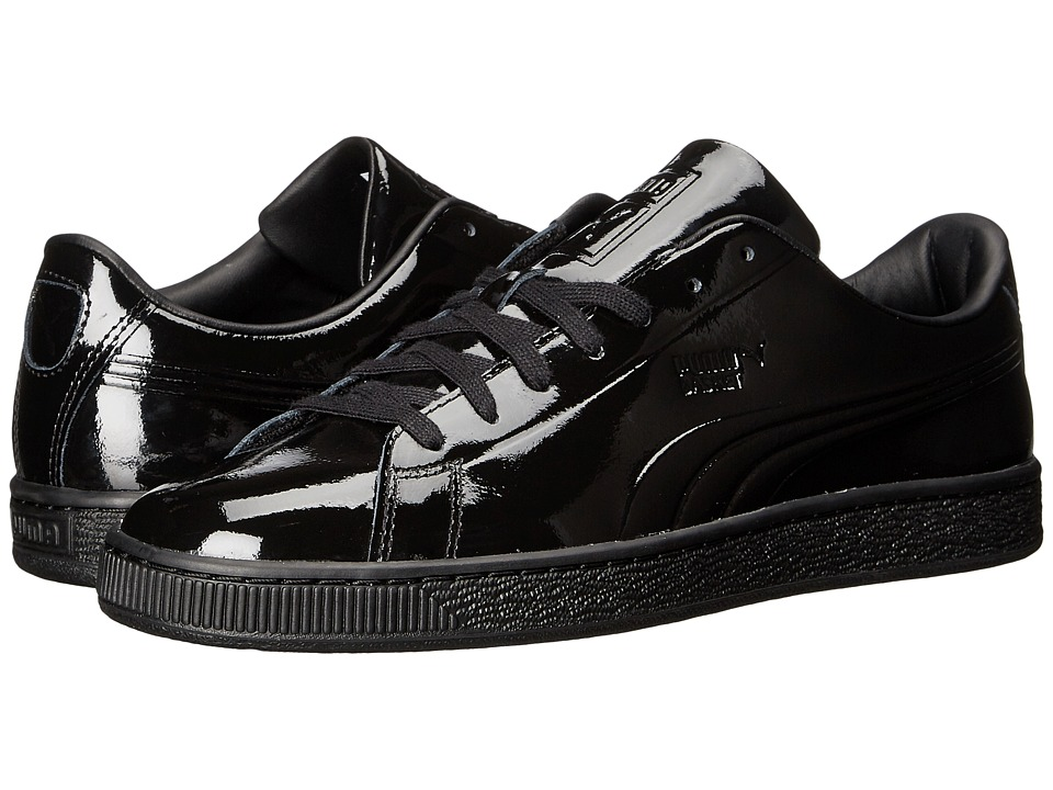 PUMA - Basket Classic Patent Emboss (PUMA Black) Men's Basketball Shoes
