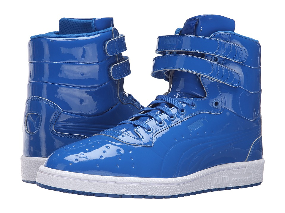 PUMA - Sky II Hi Patent Emboss (Puma Royal) Men's Court Shoes