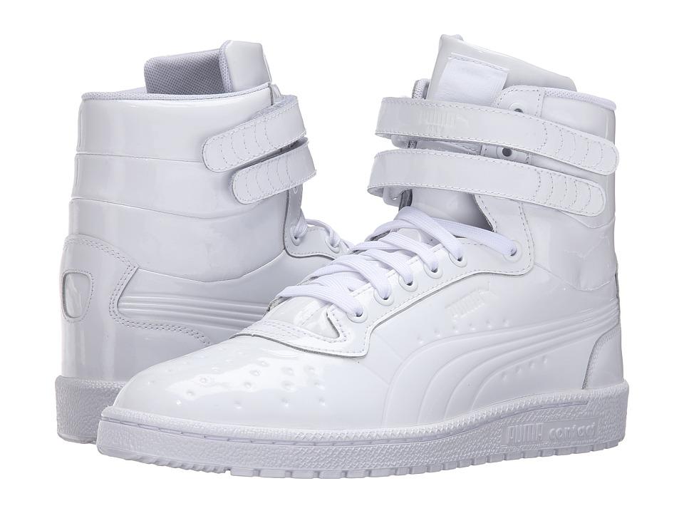 PUMA - Sky II Hi Patent Emboss (PUMA White) Men's Court Shoes