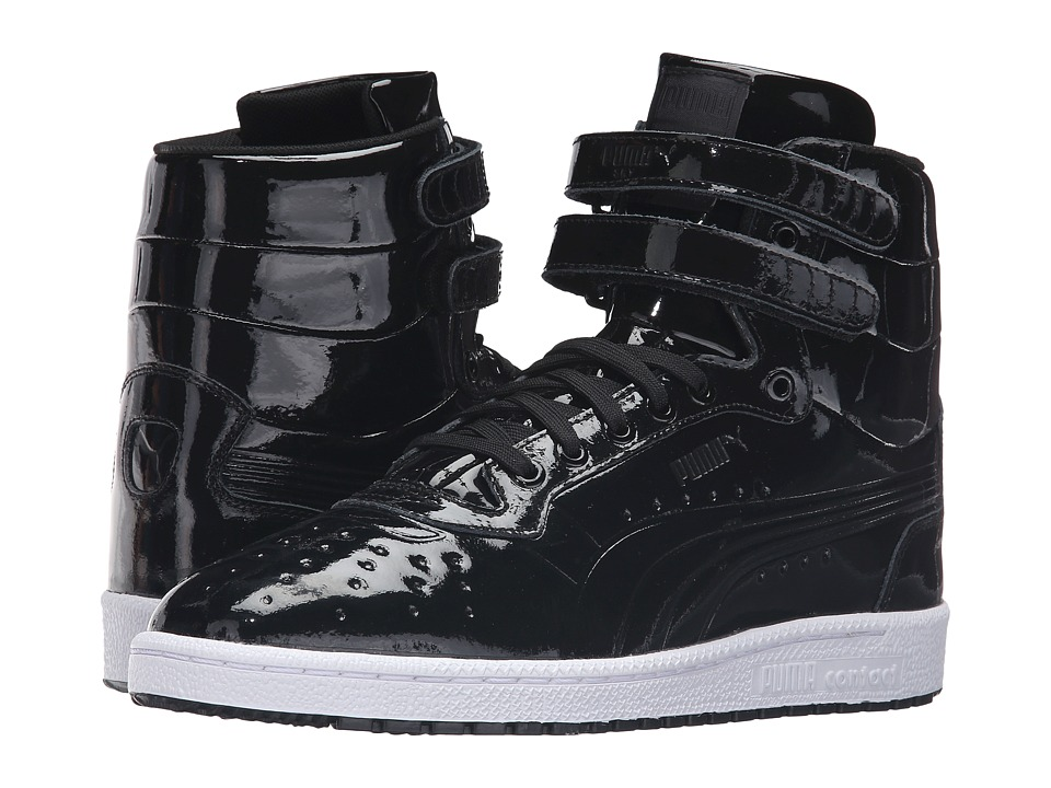 PUMA - Sky II Hi Patent Emboss (PUMA Black) Men's Court Shoes