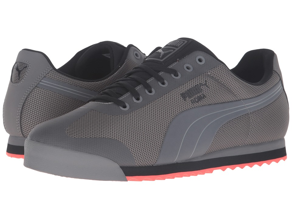 PUMA - Roma HM (Steel Gray/Puma Black/Red Blast) Men's Court Shoes