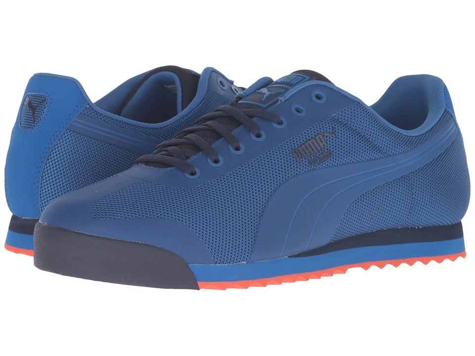 PUMA - Roma HM (Puma Royal/Peacoat/Mandarine Red) Men's Court Shoes