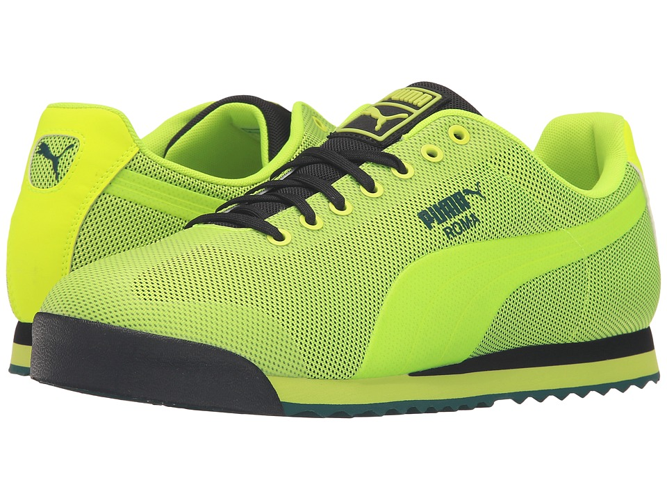 PUMA - Roma HM (Safety Yellow/Puma Black/Ponderosa Pine) Men's Court Shoes