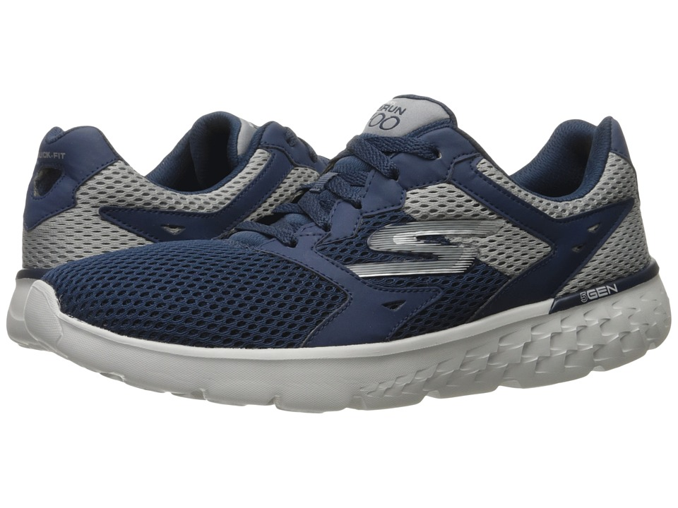 SKECHERS Performance - Go Run 400 (Navy/Gray) Men's Running Shoes
