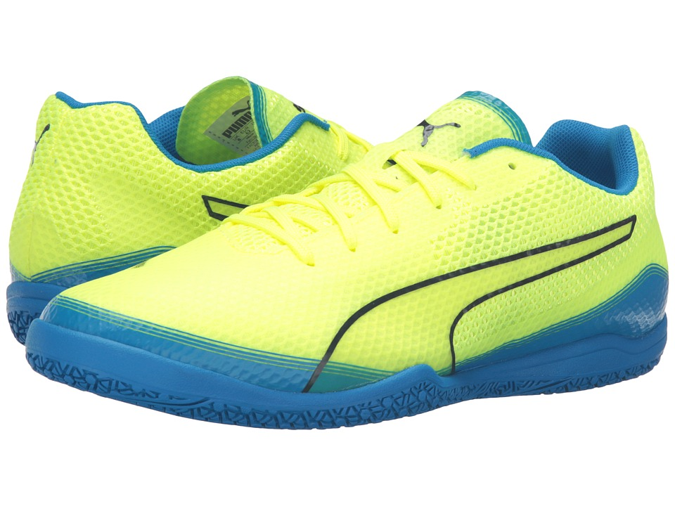 PUMA - Invicto Fresh (Safety Yellow/Peacoat/Electric Blue Lemonade) Men's Shoes