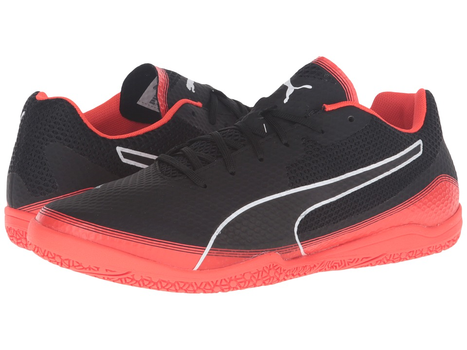 PUMA - Invicto Fresh (Puma Black/Puma White/Red Blast) Men's Shoes