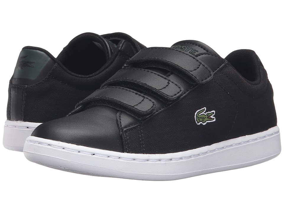 Lacoste Kids - Carnaby Evo 316 1 SPC (Little Kid) (Black) Kid's Shoes