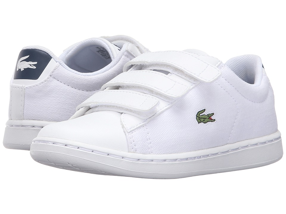 Lacoste Kids - Carnaby Evo 316 1 SPC (Little Kid) (White) Kid's Shoes