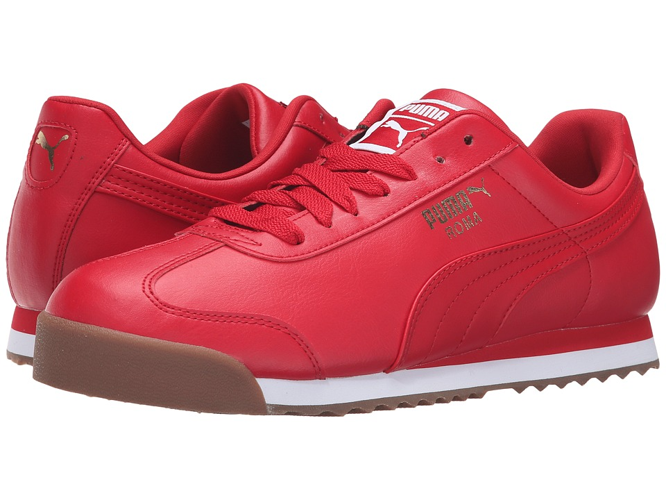 PUMA - Roma Basic (Barbados Cherry/Puma White) Men's Shoes