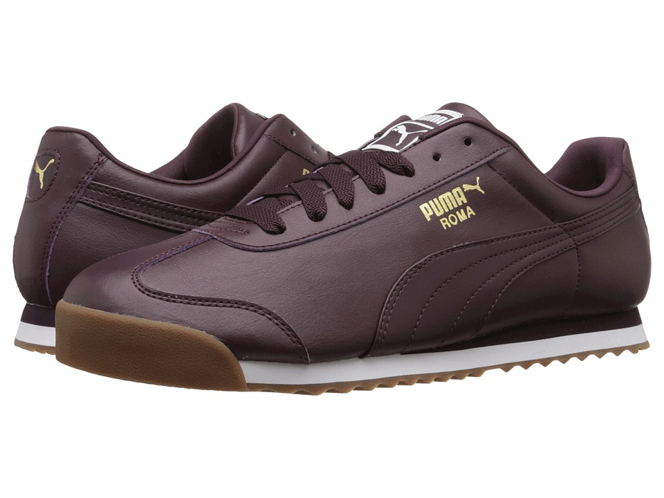 PUMA - Roma Basic (Winetasting/Puma White) Men's Shoes