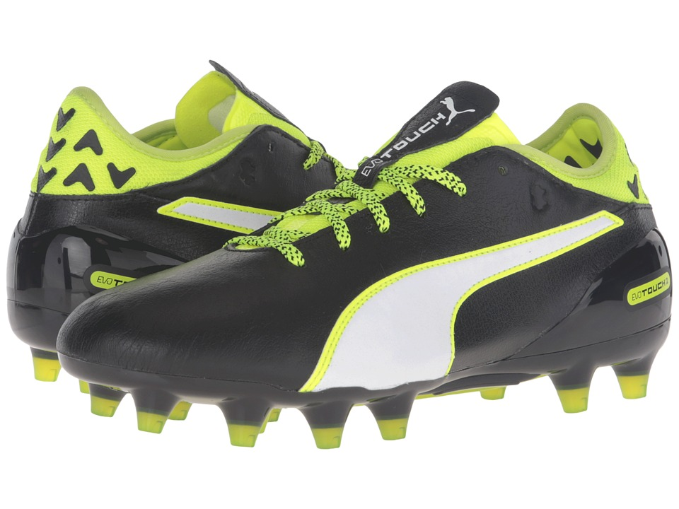 PUMA - evoTOUCH 2 FG (Black/White/Safety Yellow) Men's Shoes