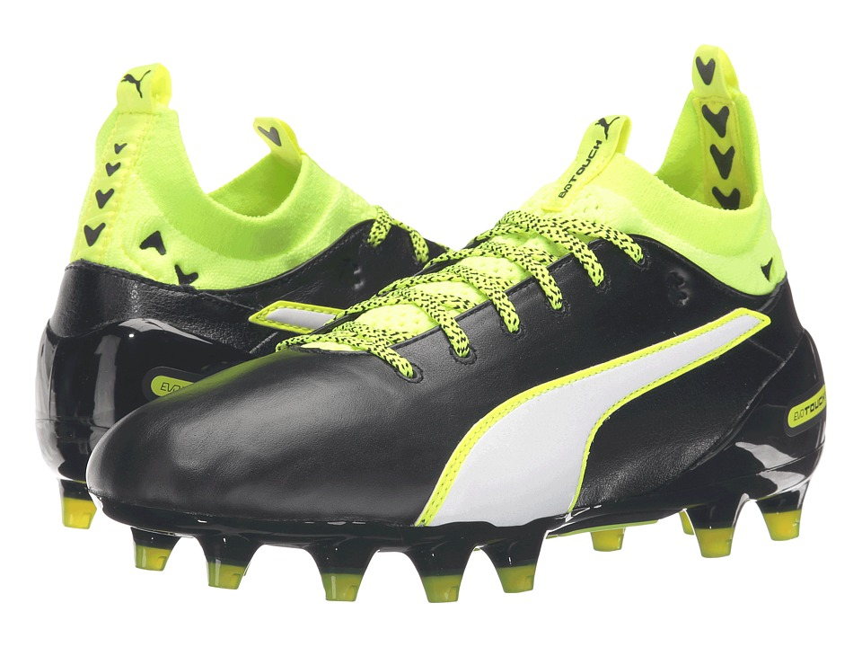 PUMA - evoTOUCH 1 FG (Black/White/Safety Yellow) Men's Shoes