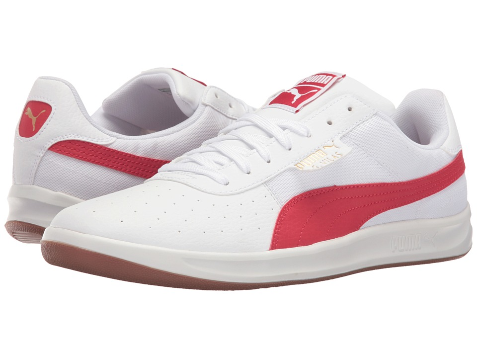 PUMA - G. Vilas 2 Core (PUMA White/Barbados Cherry) Men's Tennis Shoes