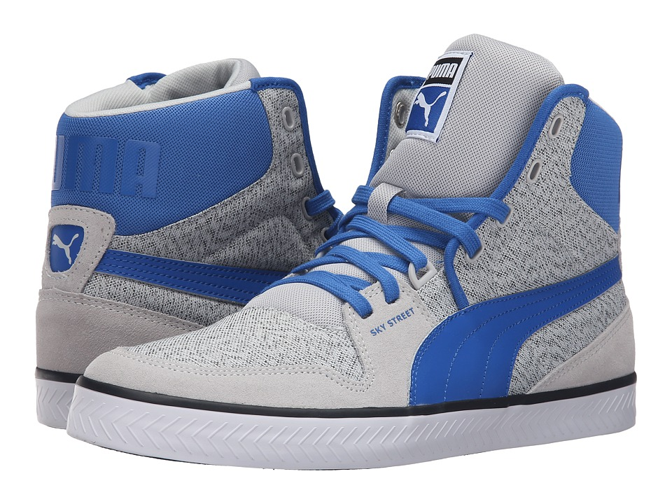 PUMA - Sky Street Vulc (Glacier Gray/Puma Royal) Men's Shoes