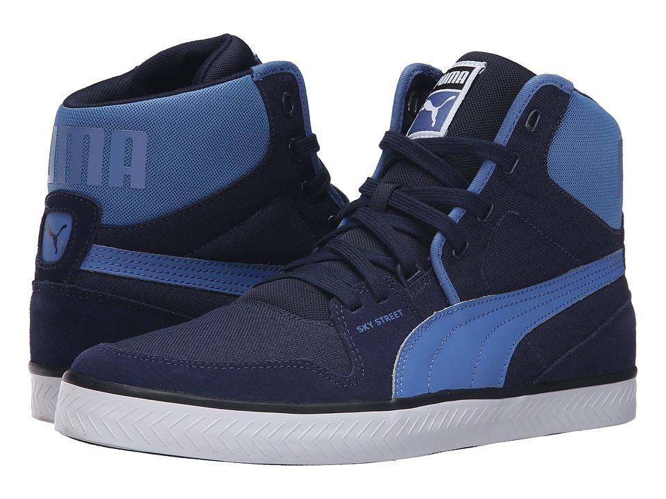 PUMA - Sky Street Vulc (Peacoat/Blue Yonder) Men's Shoes