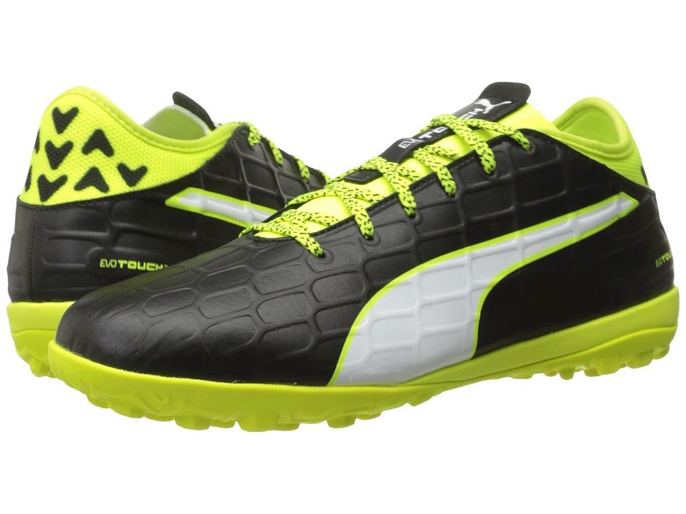 PUMA - evoTOUCH 3 TT (Black/White/Safety Yellow) Men's Shoes