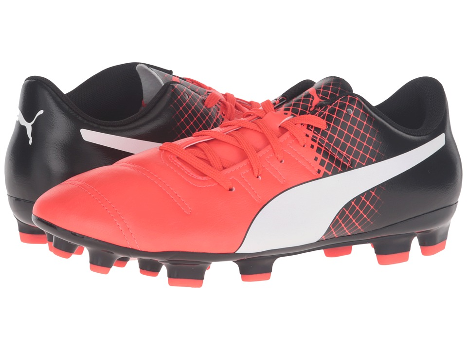 PUMA - evoPOWER 4.3 FG (Red Blast/Puma White/Puma Black) Men's Shoes