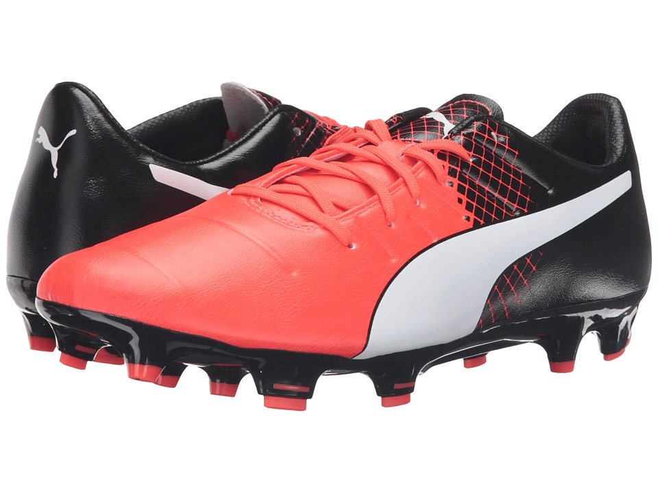 PUMA - evoPOWER 3.3 FG (Red Blast/Puma White/Puma Black) Men's Shoes