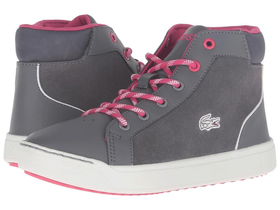 Lacoste Kids - Explorateur Mid 316 2 CAJ (Little Kid/Big Kid) (Dark Grey) Girl's Shoes