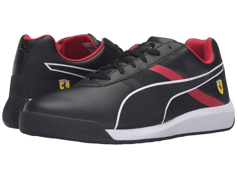 PUMA - Podio Tech SF (Puma Black/Puma Black/Rosso Corsa) Men's Shoes