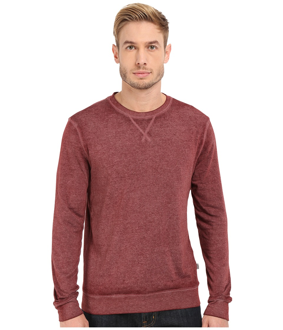 Threads 4 Thought - The Andrew Burnout Crew (Oxblood) Men's Sweatshirt