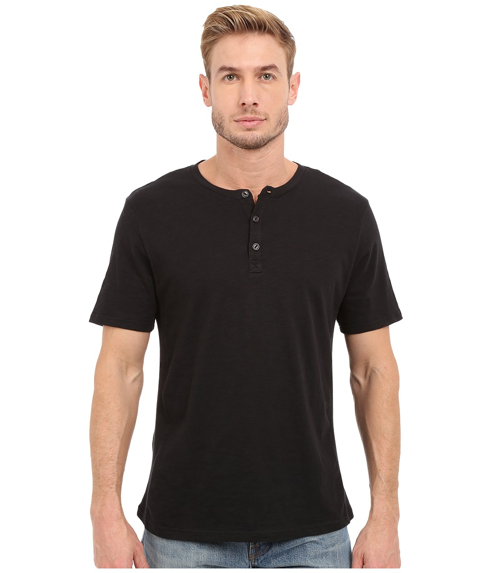 Threads 4 Thought - The Matthew Slub Henley (Raven) Men's Short Sleeve Pullover