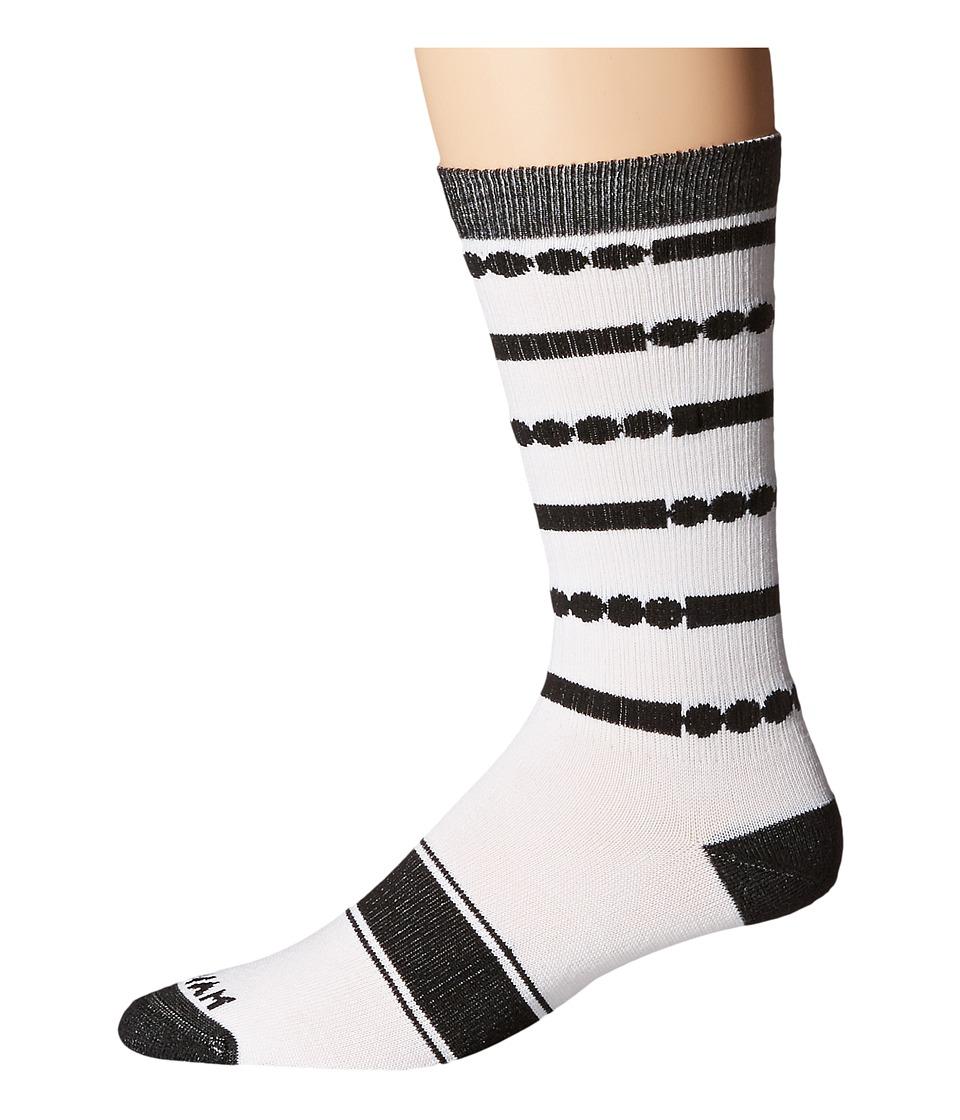 Wigwam - Code Crew (White/Black) Crew Cut Socks Shoes