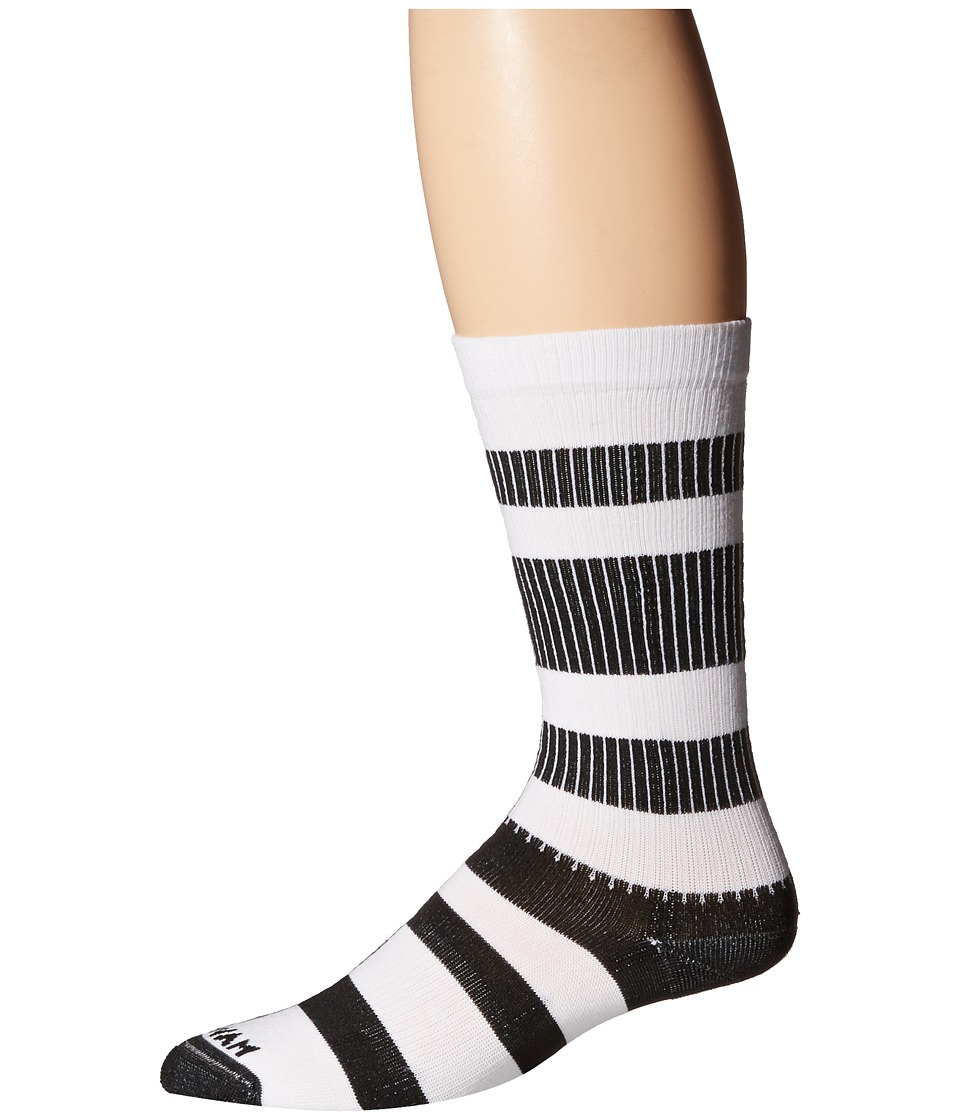 Wigwam - Channel Crew 1-Pair Pack (White/Black) Crew Cut Socks Shoes