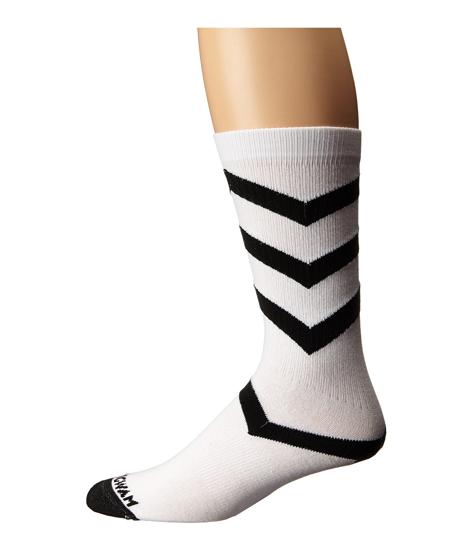 Wigwam - Wave Crew 1-Pair Pack (White/Black) Crew Cut Socks Shoes