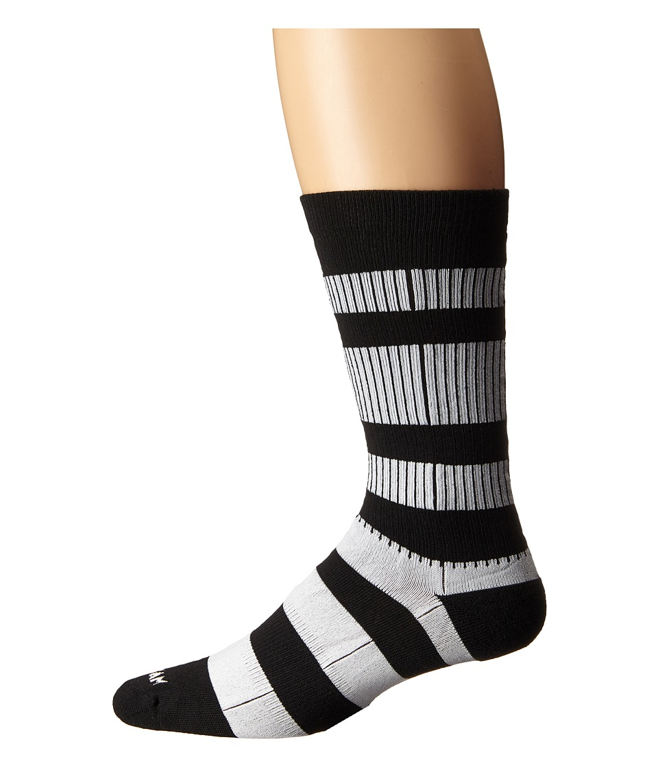 Wigwam - Channel Crew 1-Pair Pack (Black/White) Crew Cut Socks Shoes