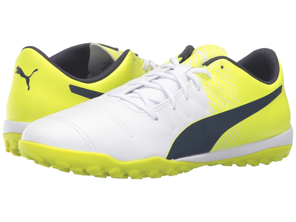 PUMA - evoPOWER 4.3 TT (Puma White/Peacoat/Safety Yellow) Men's Shoes