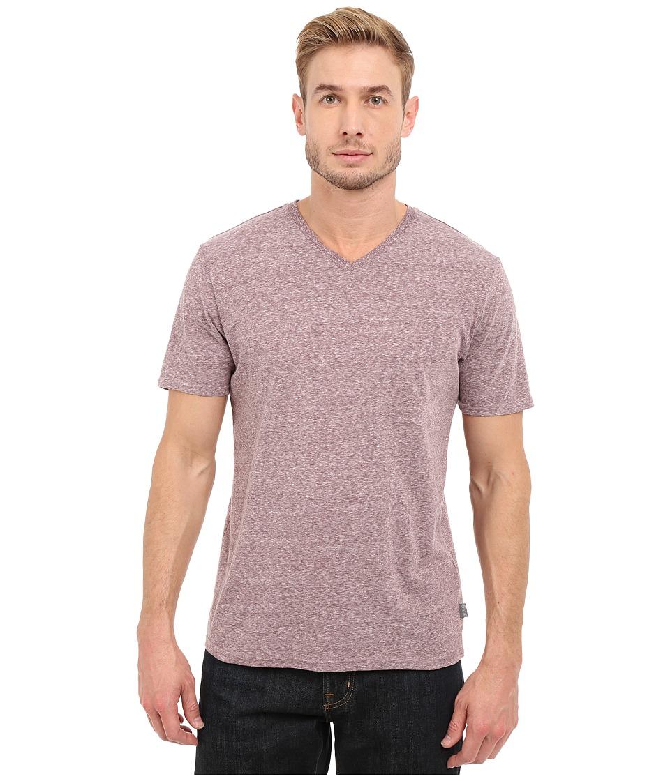 Threads 4 Thought - Baseline Tri-Blend V-Neck Tee (Oxblood) Men's T Shirt