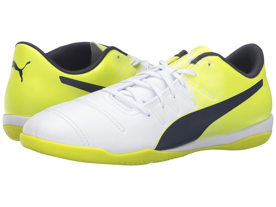 PUMA - evoPOWER 4.3 IT (Puma White/Peacoat/Safety Yellow) Men's Shoes