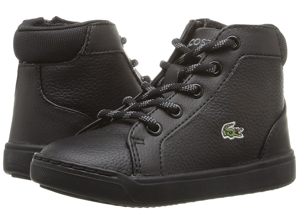 Lacoste Kids - Explorateur Mid 316 1 CAI (Toddler/Little Kid) (Black) Kid's Shoes