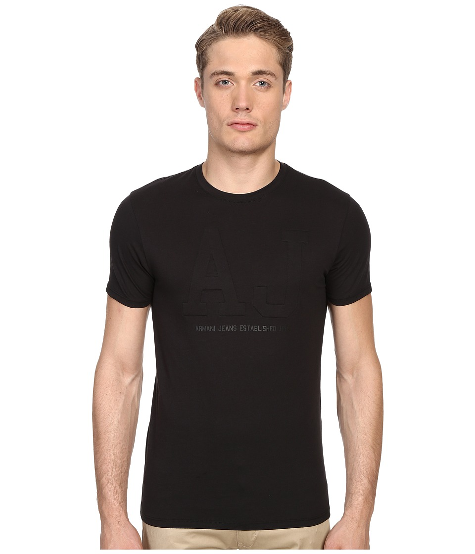 Armani Jeans - Embossed Logo Tee (Black) Men's T Shirt