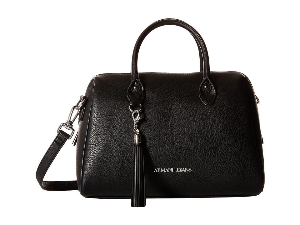 Armani Jeans - Large Boston Bag with Tassle Detail (Black) Bags