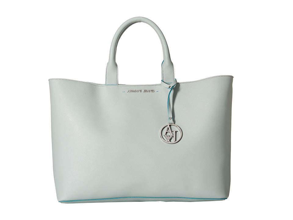 Armani Jeans - Shopping Bag with Small Pouch (Light Blue) Bags