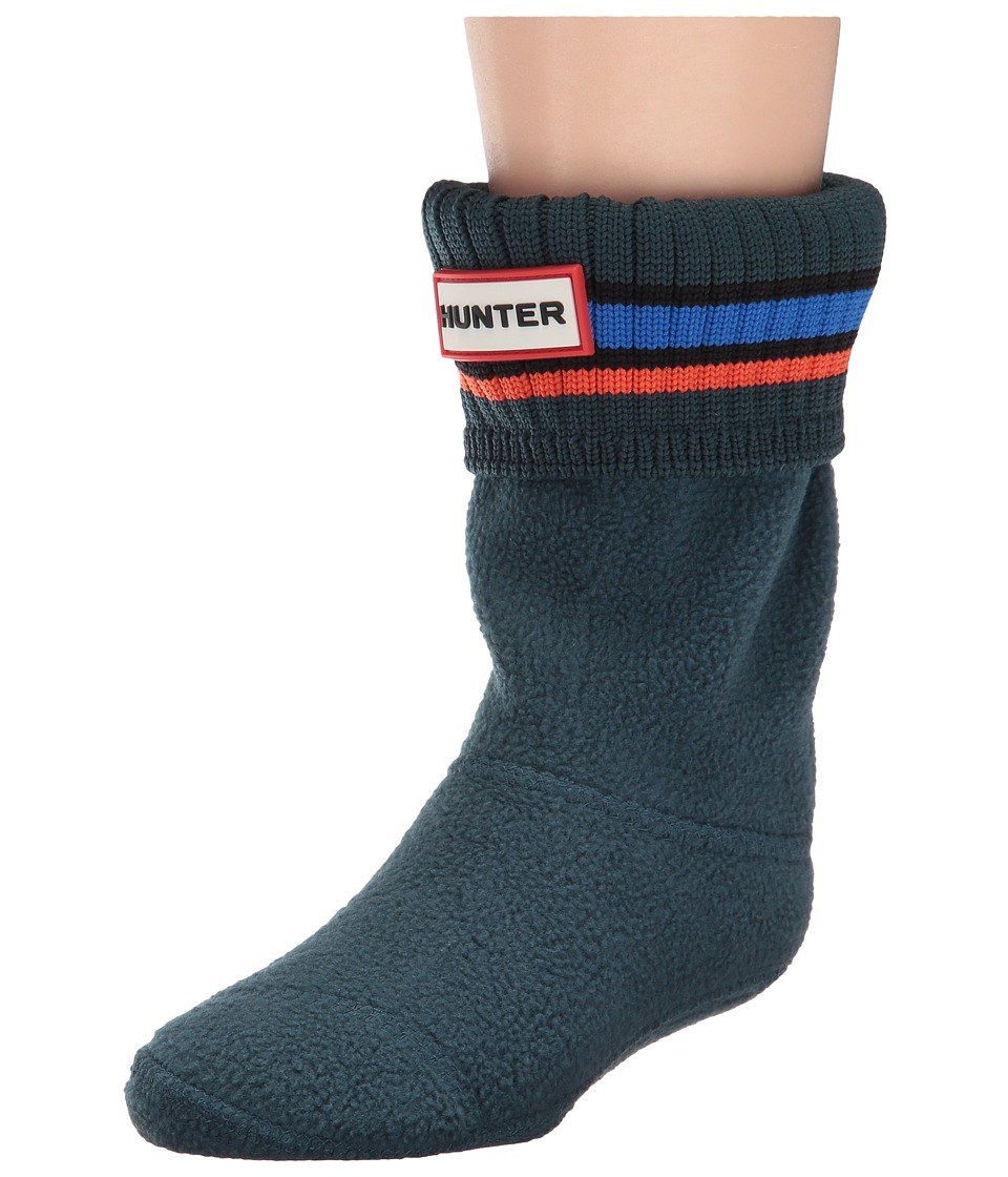 Hunter Kids - Original Buoy Stripe Cuff Socks (Toddler/Little Kid/Big Kid) (Ocean/Azure/Scallop) Kids Shoes