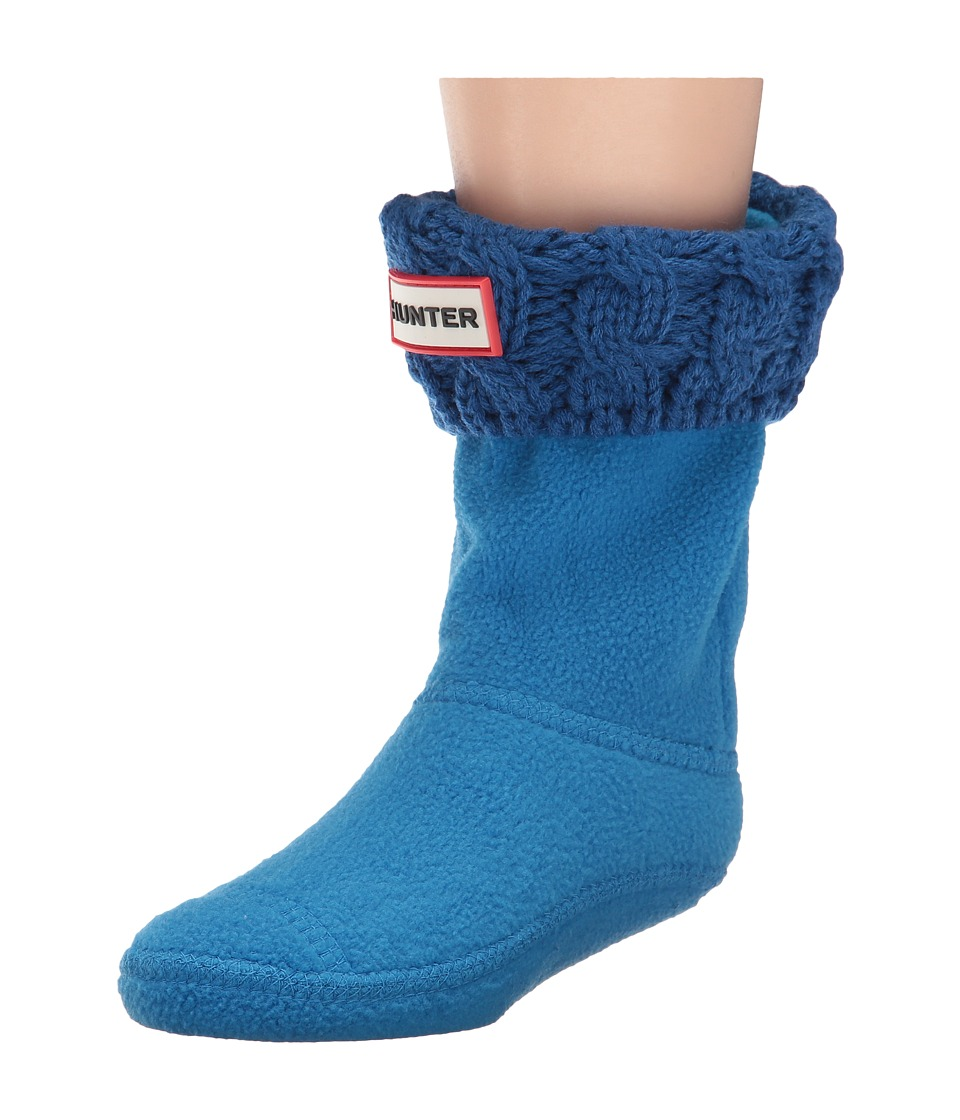 Hunter Kids - 6 Stitch Cable Boot Sock (Toddler/Little Kid/Big Kid) (Azure) Kids Shoes