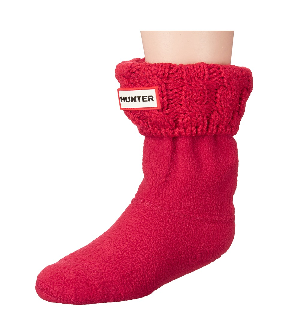 Hunter Kids - 6 Stitch Cable Boot Sock (Toddler/Little Kid/Big Kid) (Military Red) Kids Shoes