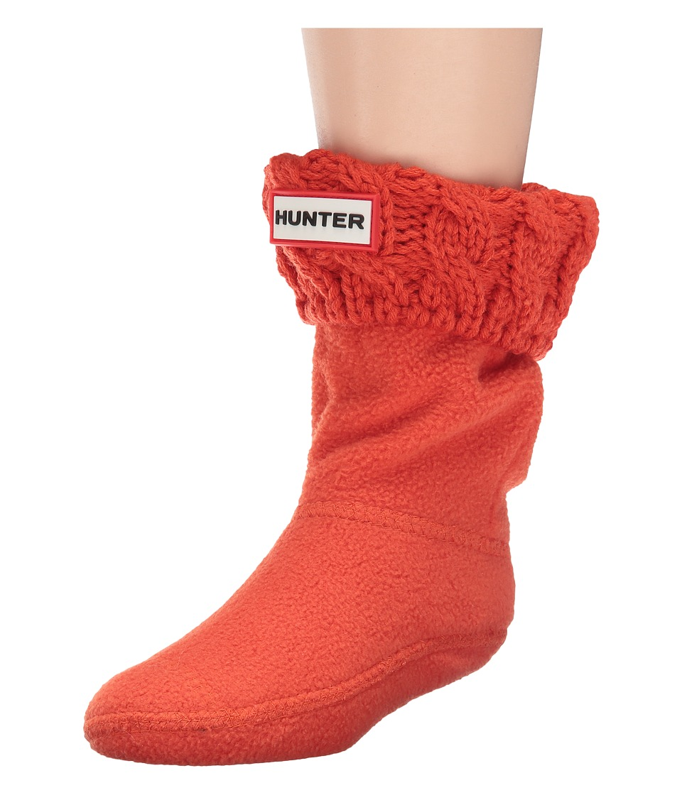 Hunter Kids - 6 Stitch Cable Boot Sock (Toddler/Little Kid/Big Kid) (Scallop) Kids Shoes