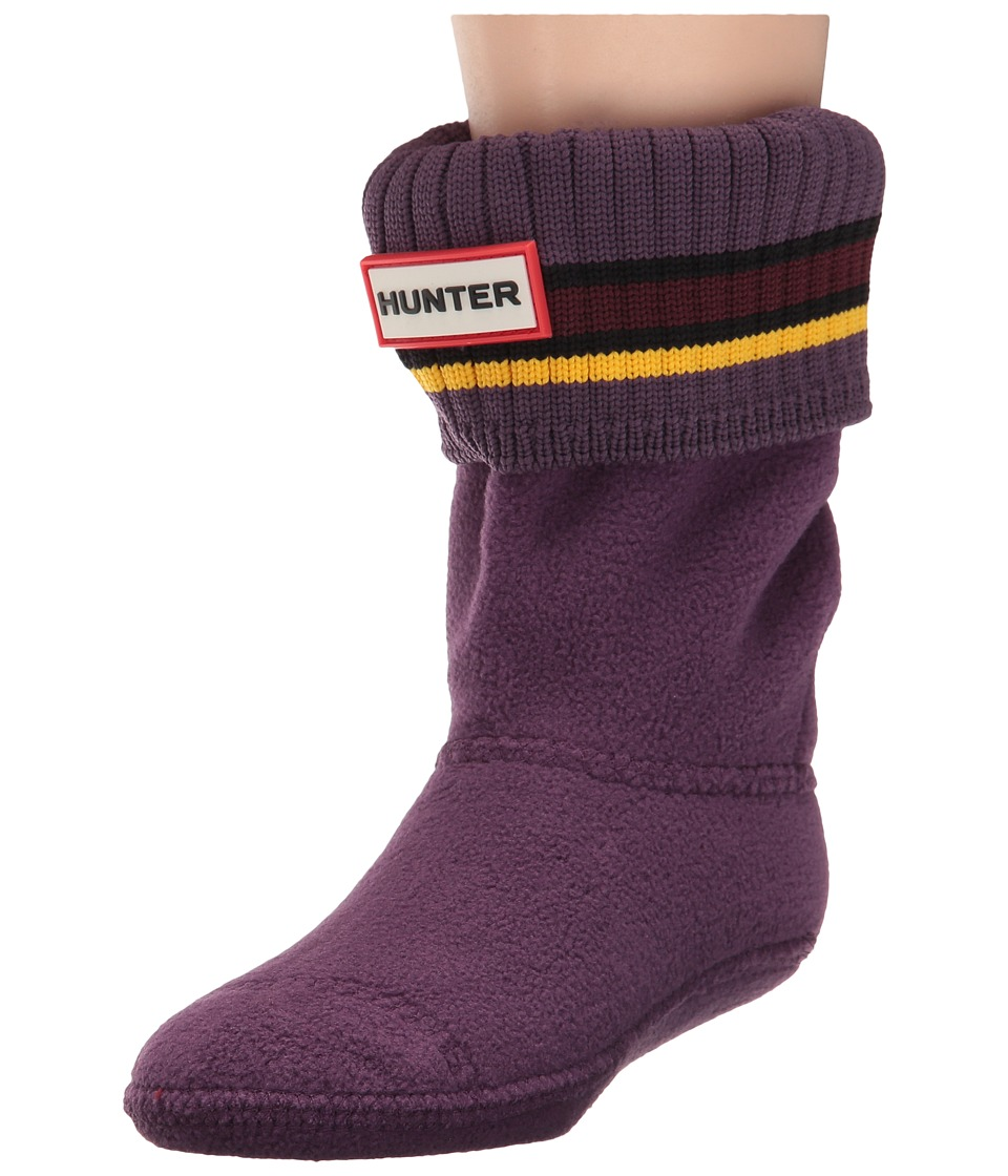 Hunter Kids - Original Buoy Stripe Cuff Socks (Toddler/Little Kid/Big Kid) (Purple Urchin/Dulse/Sowester) Kids Shoes