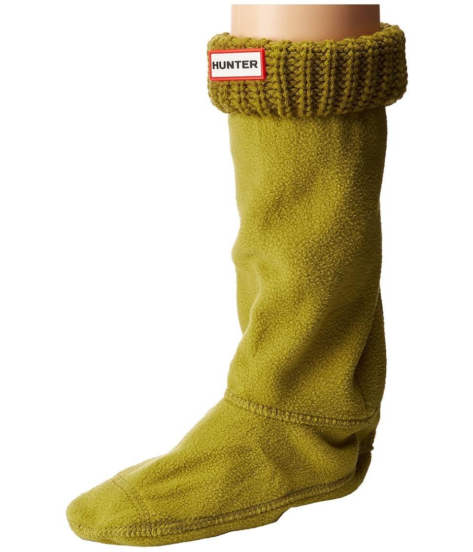 Hunter Kids - Half Cardigan Boot Sock (Toddler/Little Kid/Big Kid) (Kelp) Kids Shoes