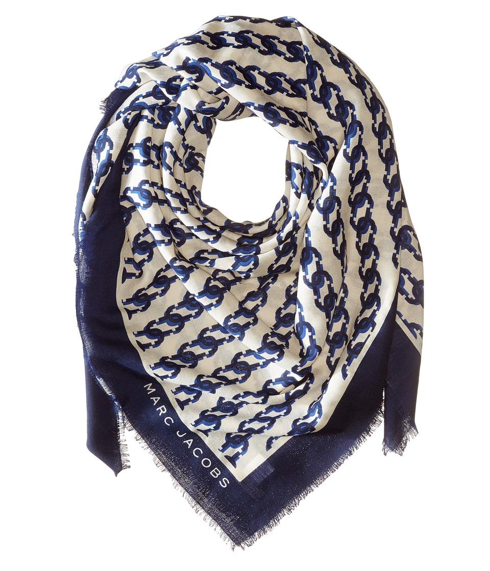 Marc Jacobs - J Marc Shawl (English Blue Multi) Scarves