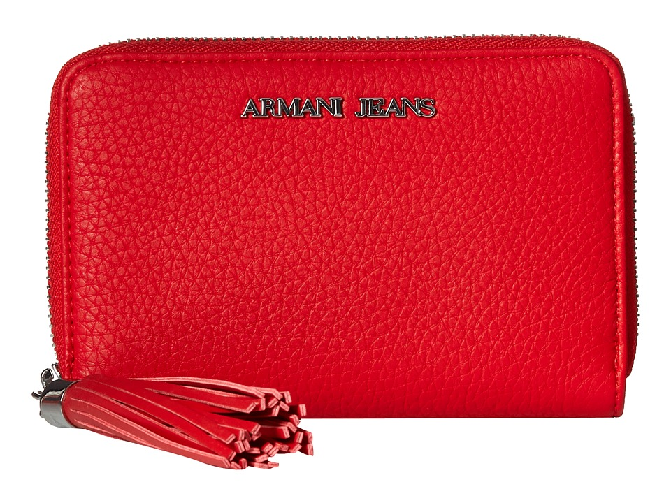 Armani Jeans - Bifold Wallet with Tassle Detail (Red) Wallet Handbags