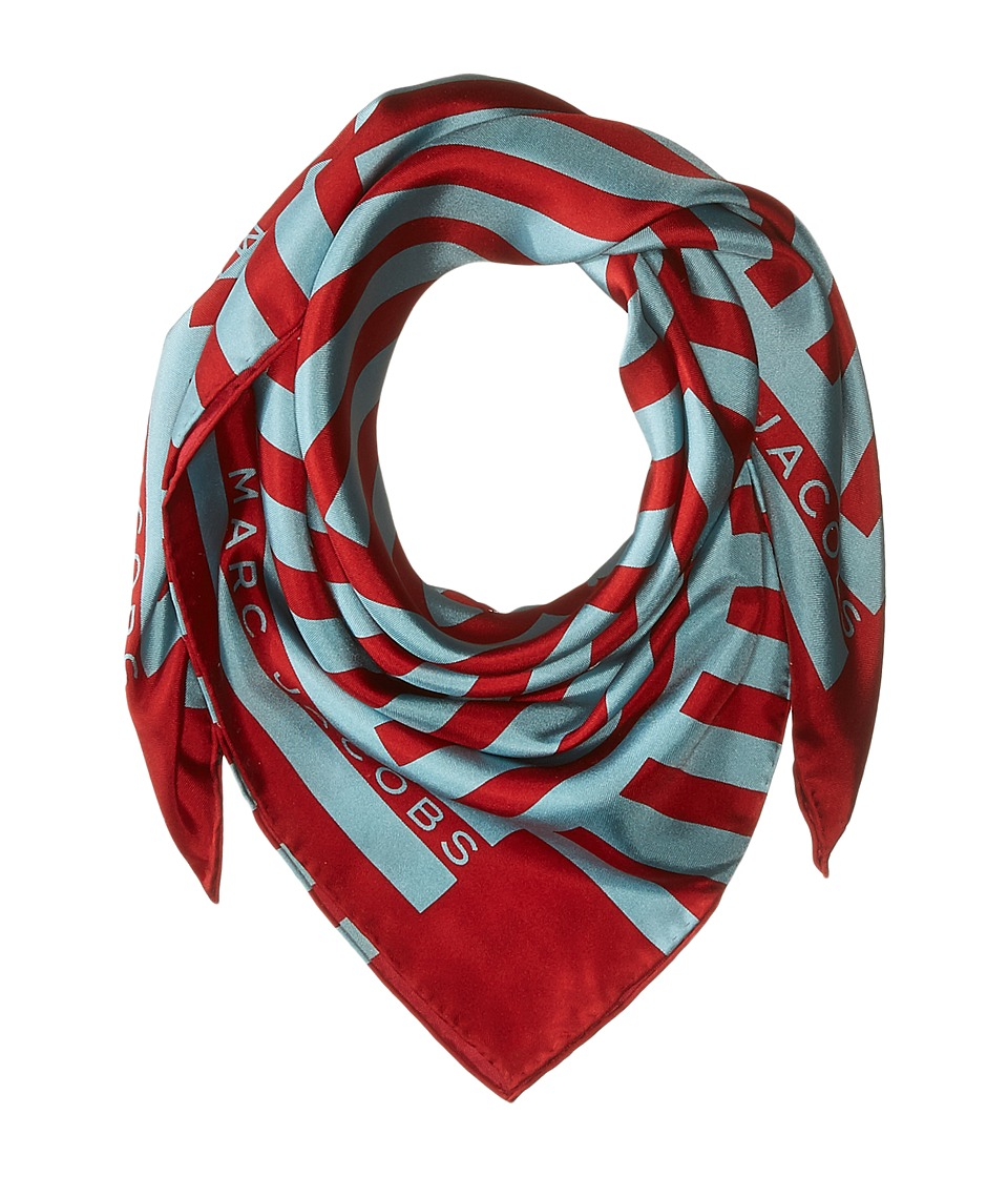 Marc Jacobs - Satin Stripe Bandana (Light Blue Multi) Scarves