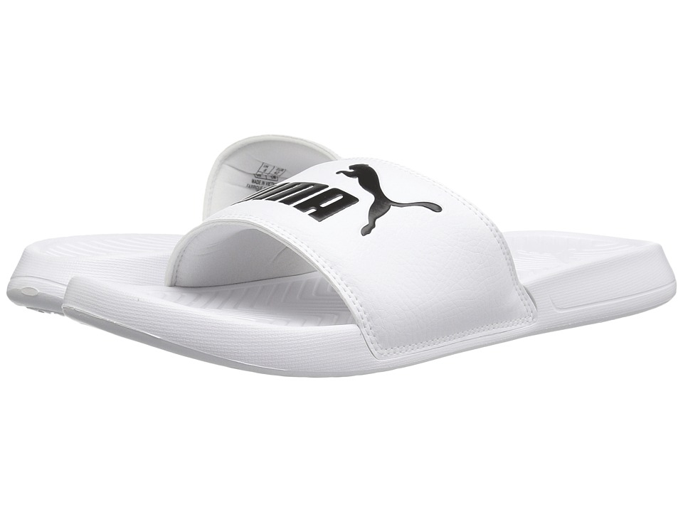 PUMA - Popcat (Puma White/Puma Black) Men's Sandals
