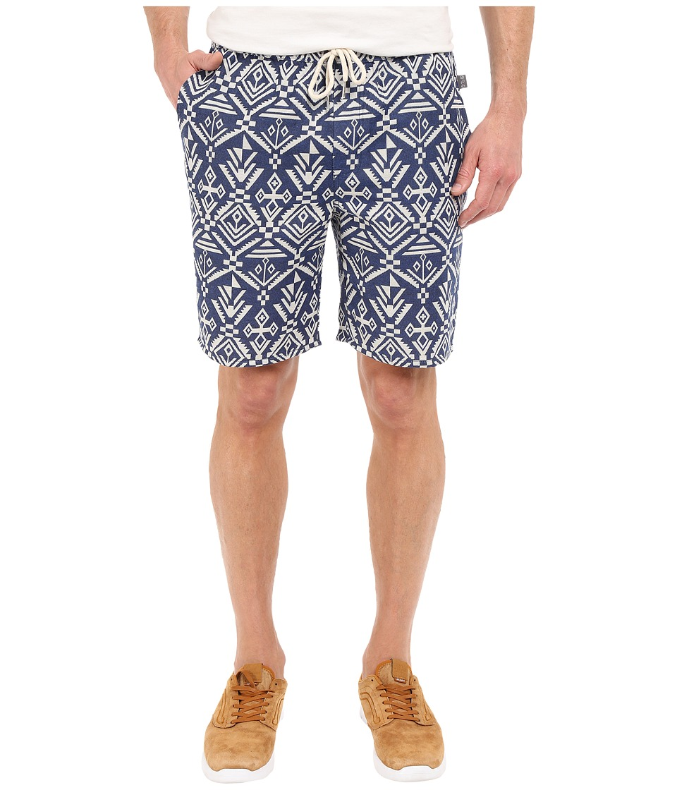 Threads 4 Thought - Boardwalk Jaquard Shorts (Navy Aztec) Men's Shorts