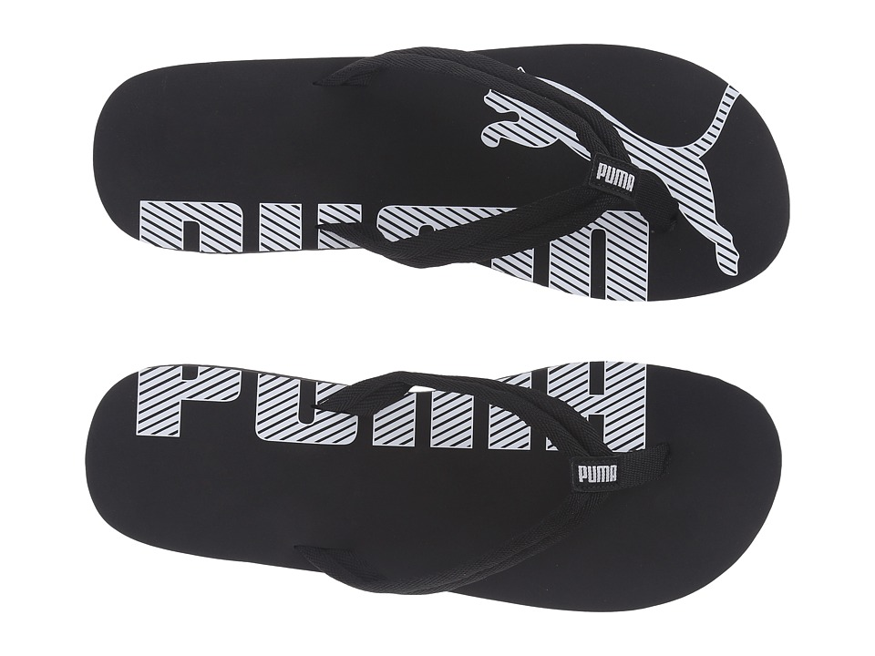 PUMA - Epic Flip V2 (Black/White) Men's Sandals